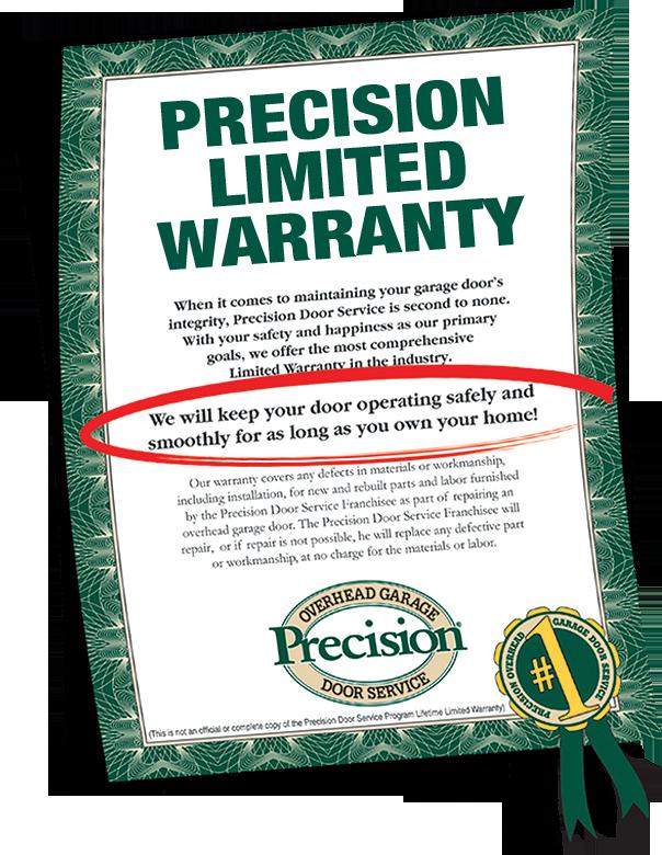 Garage Door Amp Repair Warranty By Precision Garage Door Of Nj